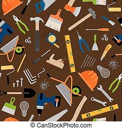Construction instruments pattern