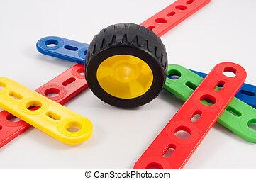 construction, kit, enfant