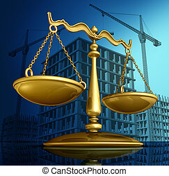 Construction Law - Construction law concept as a justice...