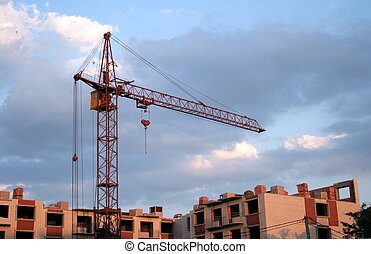 Construction. Lifting crane
