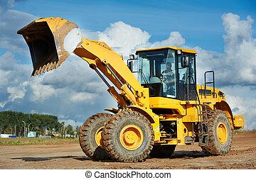 construction loader excavator - heavy construction loader...