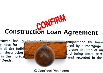 Loan agreement on a table and dollars. stock photography - Search ...