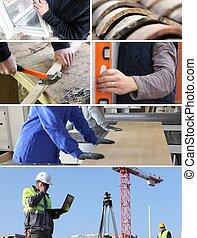 construction, métiers