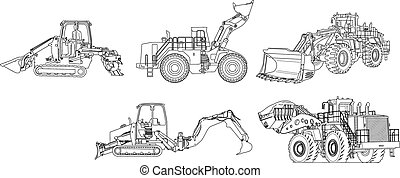construction machinery - line drawing construction machinery