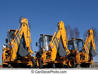 Construction machinery - New, shiny and modern orange ...