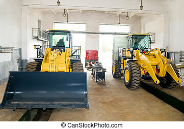 Construction machinery repair service works