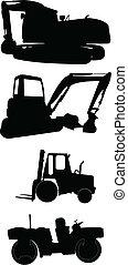 construction, machines