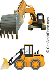 construction machines - vector construction machines on...