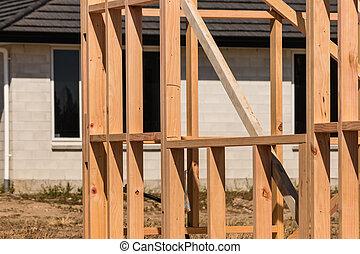 construction, maison, bois