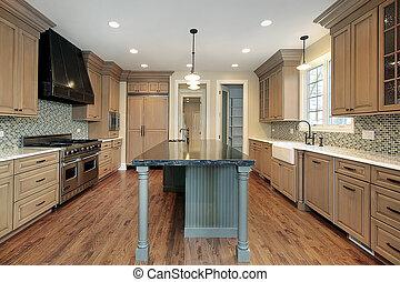 construction maison, cuisine, nouveau
