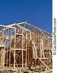 construction maison, encadrement, nouveau