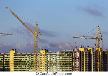 construction, maison, site, nouveau
