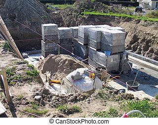 Ensemble coulage site maille b ton construction fer for Site construction maison