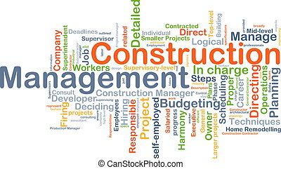 Construction management background concept - Background ...