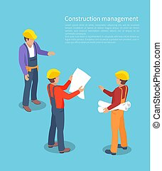 Construction Management, Color Vector Illustration