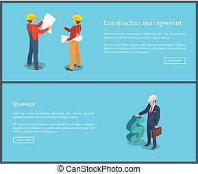 Construction Management Web Vector Illustration