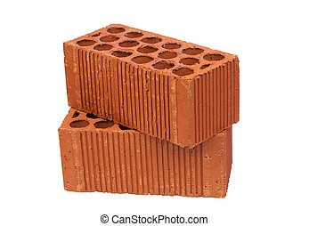 Construction Material a brick isolated on white background