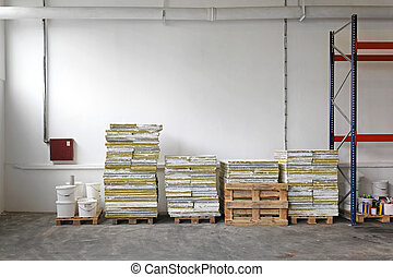Construction material - Pallets with construction material ...