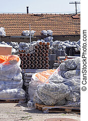 Construction material plastic pipes