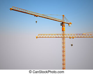 construction metal crane background