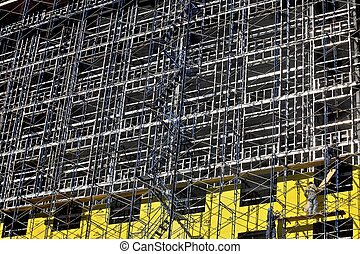 metal structure workers
