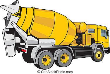 construction mixer for concrete