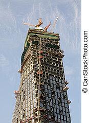 construction, moderne, gratte-ciel