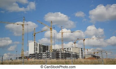 Construction multistorey apartment houses