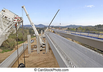 construction of a bridge on the highway