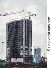 construction of a concrete house