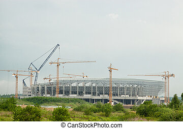 Construction of a football stadium for Euro 2012  in Lviv