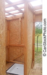 Construction of a frame wooden house