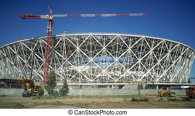 Construction of a framework of new stadium