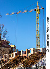 Construction of a high-rise apartment building