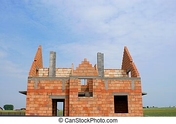 construction of a home building.