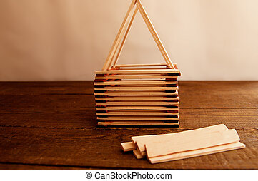 Construction of a house, construction of a roof