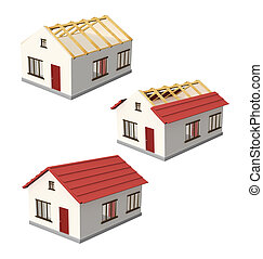 Construction of a house - Set - construction of a house