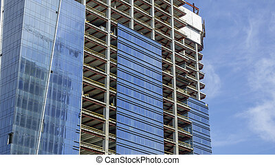Construction of a modern building