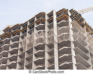 Construction of a modern panel building