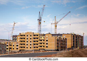 construction of a modern residential area