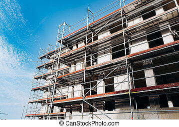 Construction of a multi-storey building.