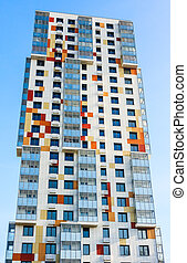 Construction of a multi-storey residential building under the renovation program. District Northern Tushino, City of Moscow