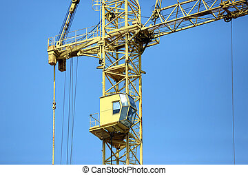 construction of a multistory building with construction crane