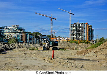 Construction of a new high-rise buildings in the city