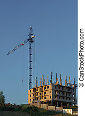Construction of a new multi-storey residential building