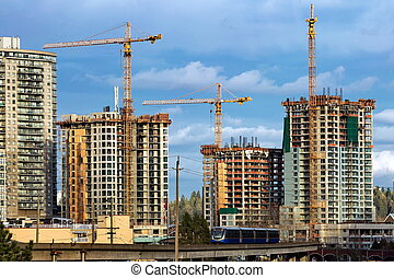 Construction of a new residential area.