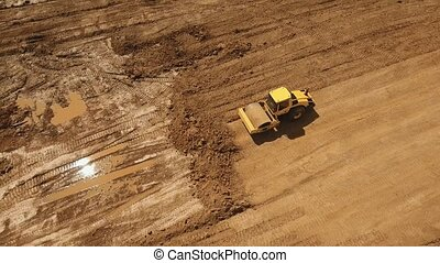 Construction of a new road. - Construction of a new road in...
