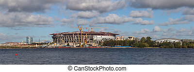 new stadium in Sankt-Peterburg - construction of a new ...