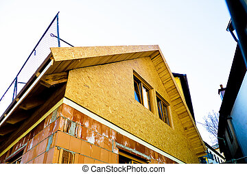 construction of a residential building with shell