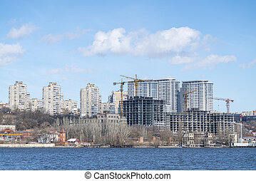 construction of a residential complex on the shore